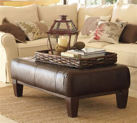 Sullivan Leather Ottoman Ottoman Tray Ottomans And Pottery On Pinterest