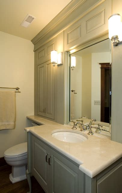 guest bathroom remodel with custom cabinetry traditional