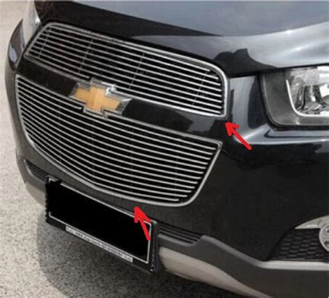 Daihatsu Sigra Front Grille Bumper Trim 6 Pcs 2pcs Stainless Steel Car Front Bumper Mesh Grille Around Trim Racing Grills Fit For Chevrolet