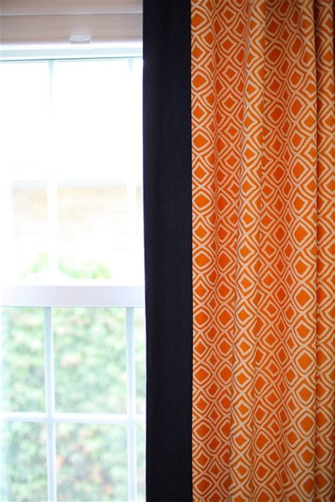 orange and navy curtains loving orange and navy curtains pinterest