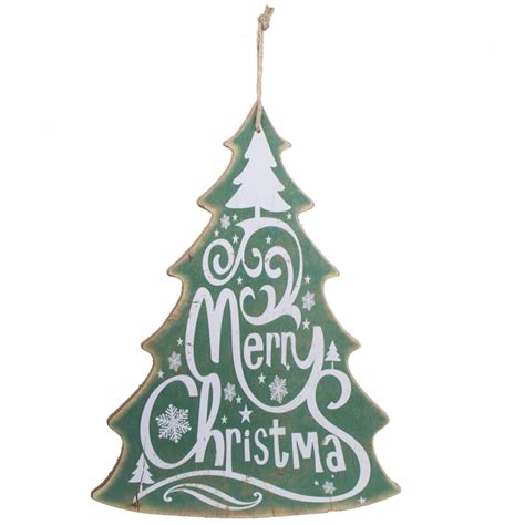 16 quot merry christmas tree sign green xwm6309