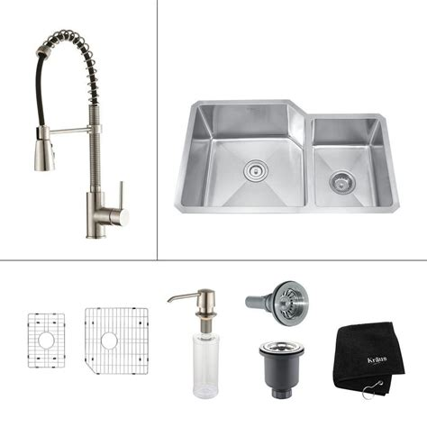 32 Inch Undermount Kitchen Sink Kraus 32 Inch Undermount Bowl Stainless Steel Kitchen Sink With Stainless Steel Finish