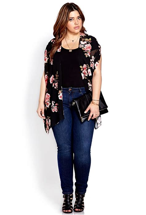 clothes for short women slightly overweight cherry blossom chiffon kimono forever21 plus size