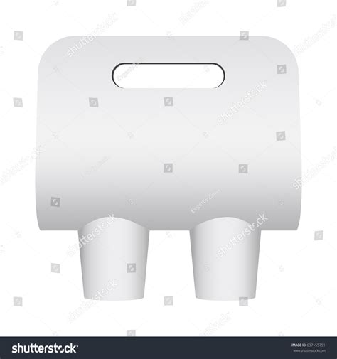 Paper Coffee Cup Carrier Mockup Cup Stock Vector 637155751 Shutterstock Beverage Carrier Template