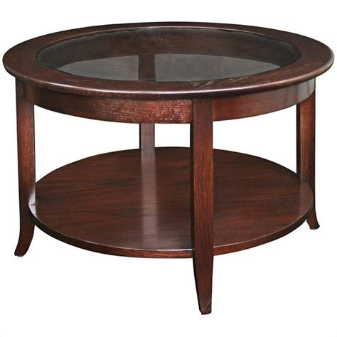 Coffee Table Tops Wood Leick Furniture Solid Wood Glass Top Coffee Table In Oak 10037