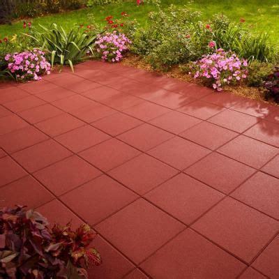 anchor      red square concrete patio stone