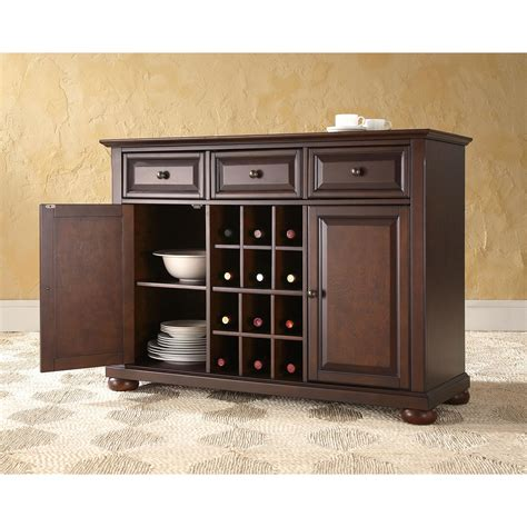 Alexandria Buffet Server Sideboard Cabinet With Wine Wine Buffet Cabinet
