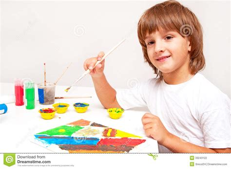 painting child child painting stock photography image 33243122