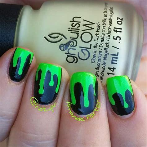 slime nail tutorial green slime nails