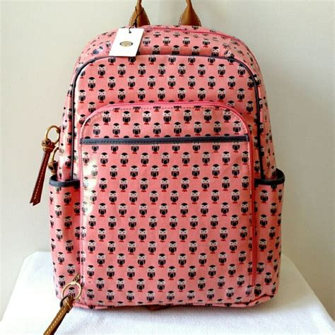 Fossil Keyper Shoer Coral 57 fossil handbags new fossil key per coral multi owl backpack from s closet on