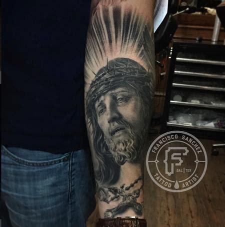 christian tattoo artist fort worth realistic jesus portrait tattoo by francisco sanchez tattoos