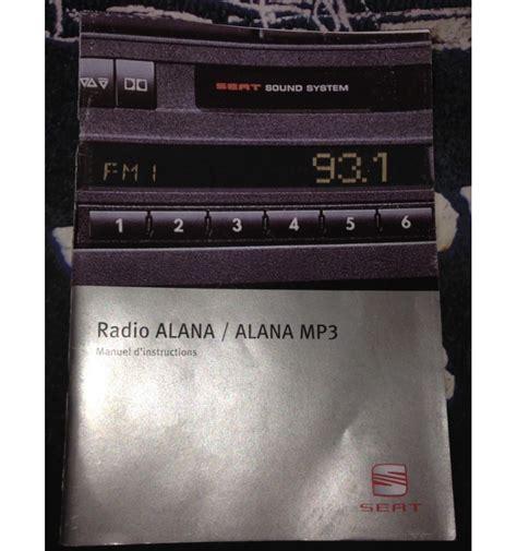car radio cd alana mp  seat ibiza cordoba ref lb lbx lbxw sale