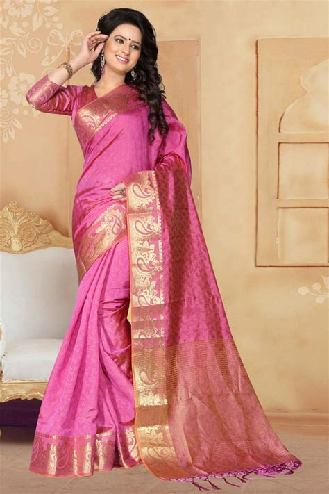 latest wedding sareesbuy south indiantraditional silk buy pink south indian style art silk saree 1365 online