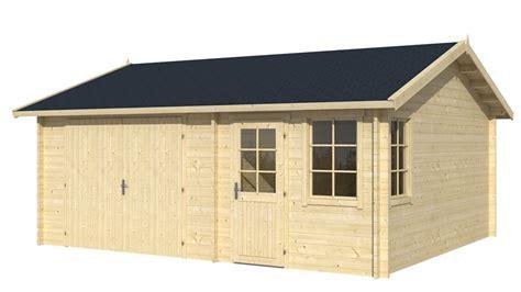 log cabin garage moa 45mm log cabin garage 5x6m