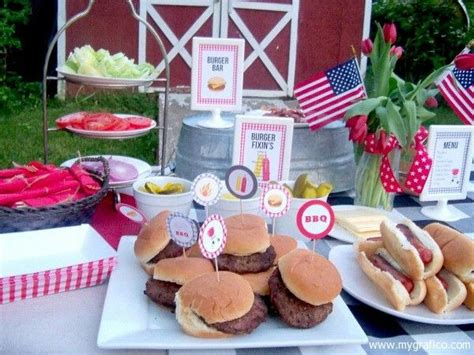 backyard cookout menu bbq burgers hotdogs backyard barbecues pinterest