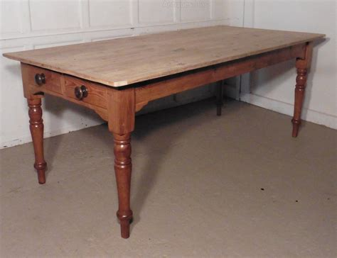 Big Kitchen Table Large Pine Table Scrub Top Kitchen Table Antiques Atlas