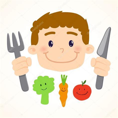 imagenes de niños jugando y comiendo ni 241 o comiendo vegetales archivo im 225 genes vectoriales