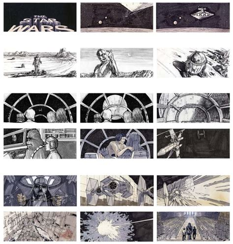 star wars storyboards 1419707728 star wars borad storyboard war drawings