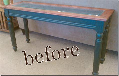 shadow box sofa table urban farmhouse thrift find shadow box console makeover