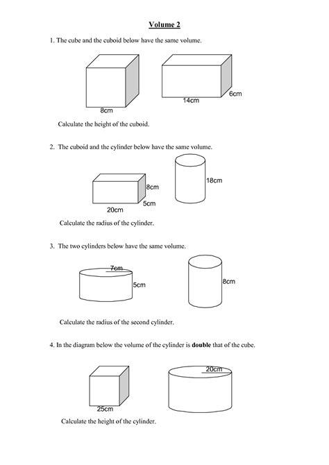 capacity worksheets lesupercoin printables worksheets 28 volume of prisms and cylinders worksheet volume