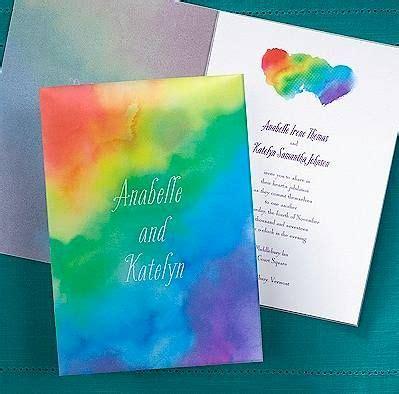 rainbow wrap wedding invitation | themes & dreams wedding