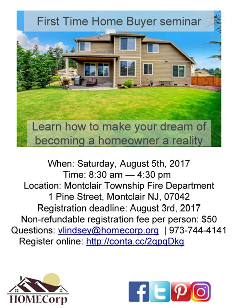 july 2017 time home buyer seminar rescheduled
