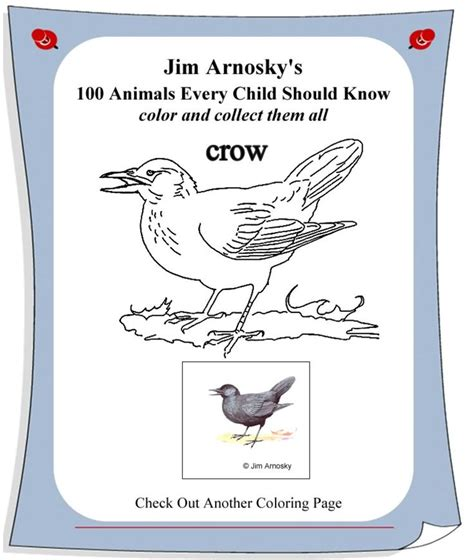 crow coloring page sarah plain and tall pinterest