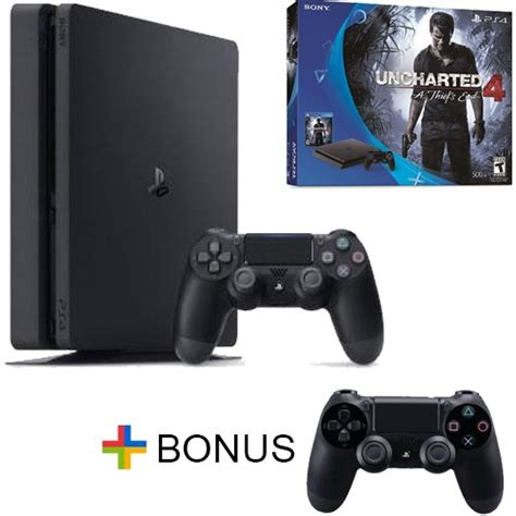 Playstation 4 Ps4 Slim 500gb Dualshock 4 playstation 4 slim 500gb console uncharted 4 bundle free dualshock 4 c ebay
