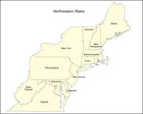 Northeast region states map on us northeast region map with capitals