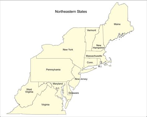 map of the northeast usa what is the best northeastern state map