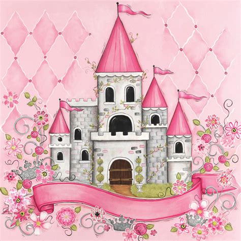 Princess Bedroom Drawing Princess Castle Personalized Canvas Reproduction Modern