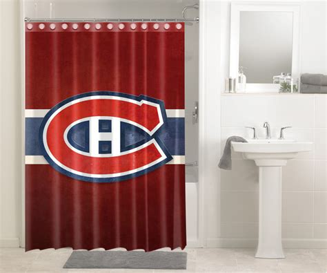 shower curtains montreal montreal canadiens nhl hockey 326 shower curtain