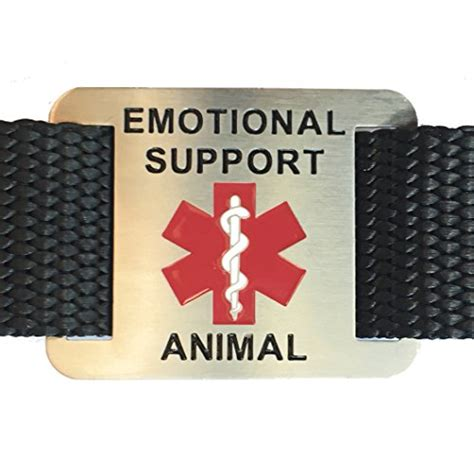 emotional support for sale emotional support animal tag for service dogs attaches to collar harness leash