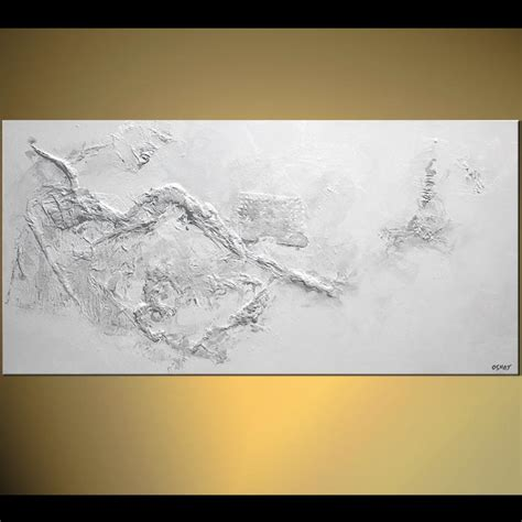 Painting White painting textured white abstract painting minimal