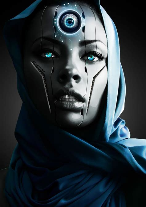 themes girl android cyberpunk robot girl cyborg futuristic android sci