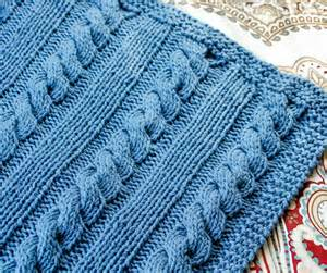 Cables and columns knit blanket pattern www petalstopicots com
