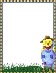 printable farm stationary handwriting paper template for kindergarten