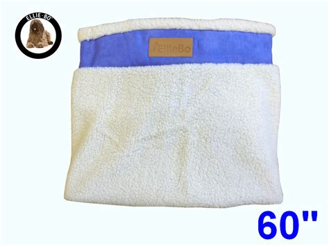Bedcover Jumbo 300x250 ellie bo jumbo 60 inch replacement blue bed cover with faux suede and sheepskin topping
