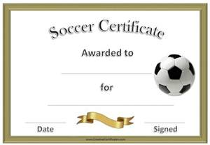 soccer award certificate template customize