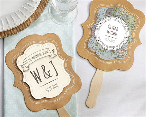 Wedding Favors Fans by Personalized Travel And Adventure Fan Favors Set Of 12