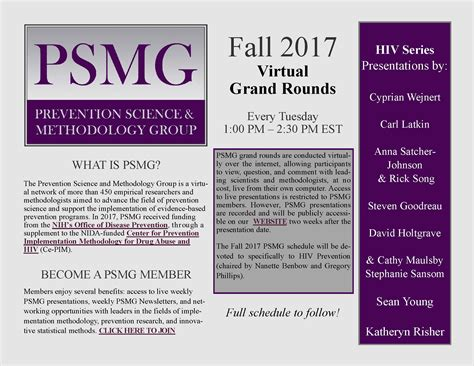 Mba Northwestern Fall 2017 Schedule by Prevention Science And Methodology To Host Hiv