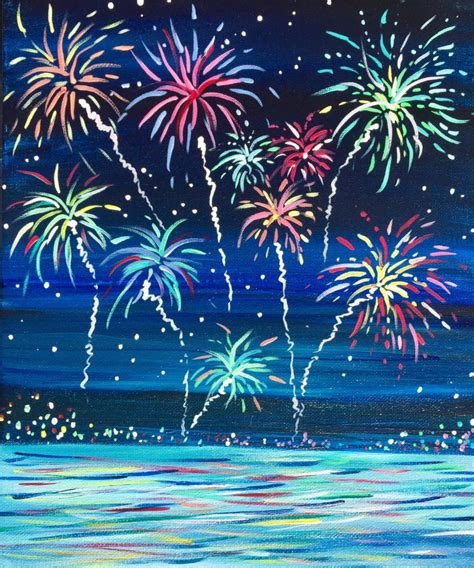 new years colors new years fireworks december 31st outer banks painting