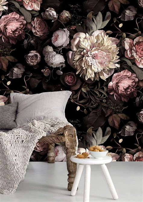 Home Decor Trends 2015 Pinterest by Behang Met Grote Bloemen Sheboezz