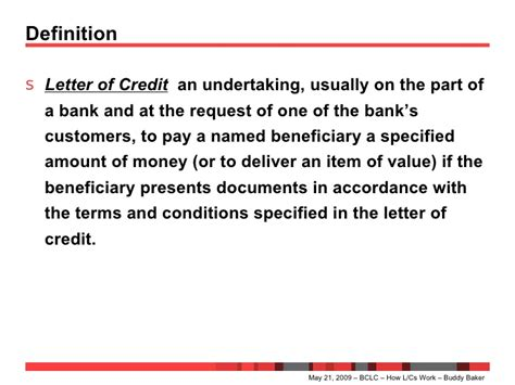 Letter Of Credit Working How Letters Of Credit Work