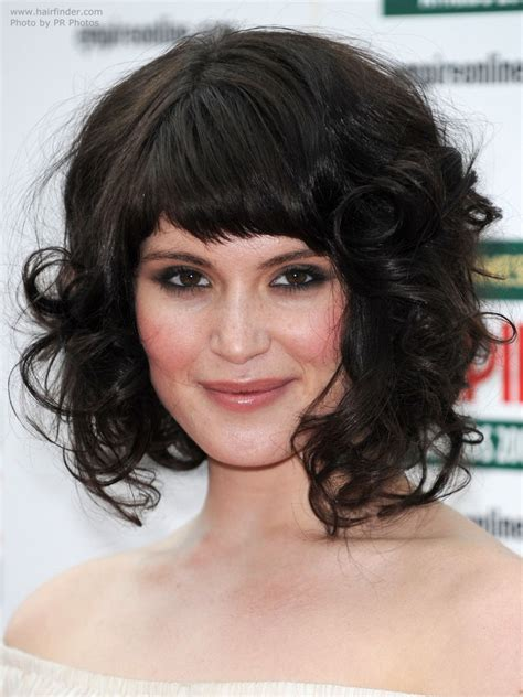 rolling hair styles gemma arterton medium length hairstyle with large