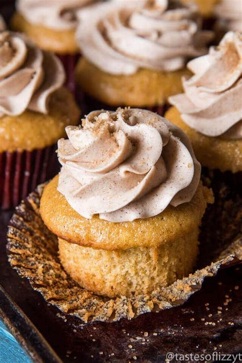 Cupcake Cinnamon cinnamon cupcakes with cinnamon buttercream frosting