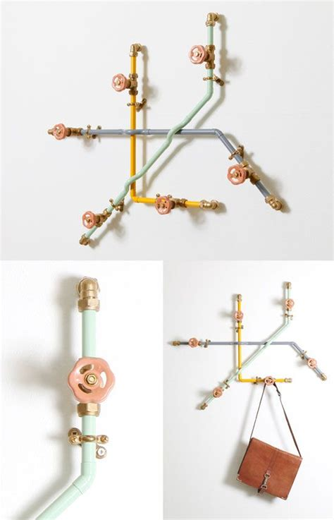 cool coat racks a cool coat rack made from pipes nick fraser multi