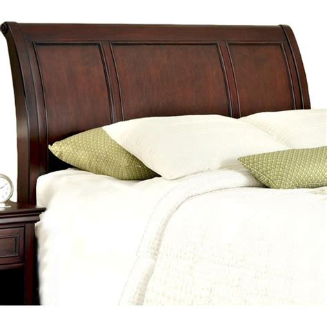wooden headboards king wood sleigh headboard mahogany and cherry veneer king