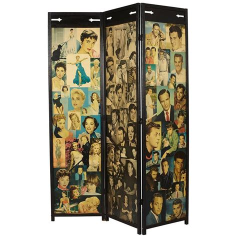 decoupage folding screen for sale at 1stdibs