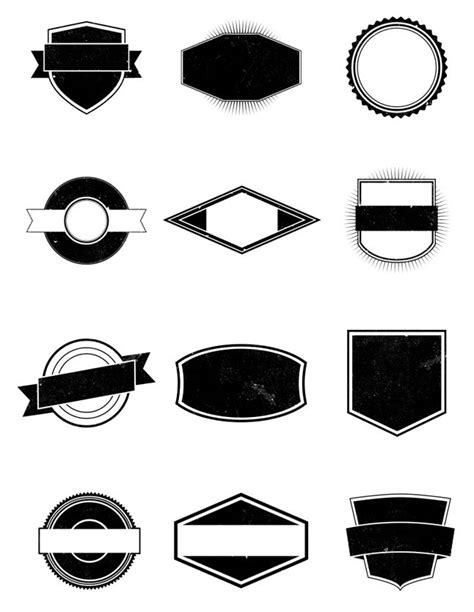 blank logo templates this free pack contains 12 completely vector shapes they
